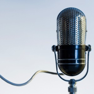 Close up of radio microphone