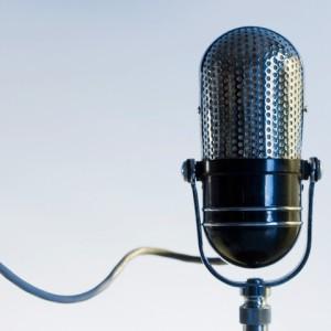 Close up of radio microphone